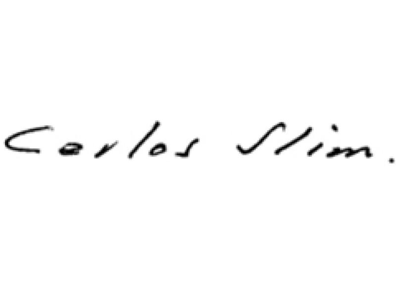 La firma del magnate. (Foto: Especial)