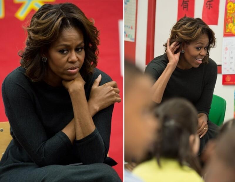 Hace un año la primera dama de Estados Unidos sorprendió al usar bangs.