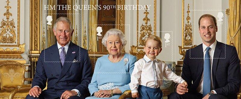 Para conmemorar el 90 aniversario de la reina Isabel II, la corona ha lanzado estampillas especiales.