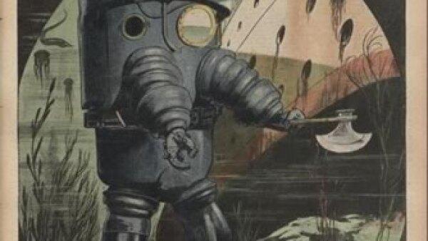 Armaduras con simulaciones rob�ticas. Cr�dito: Archivo de la Bibliot�que Nationale de France