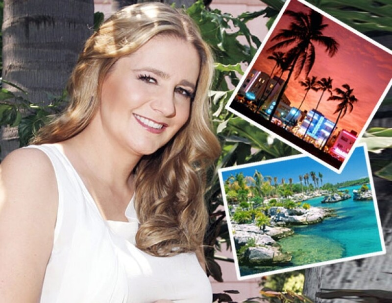 La conductora de televisión no pierde ninguna oportunidad para visitar las encantadoras playas de Quintana Roo.