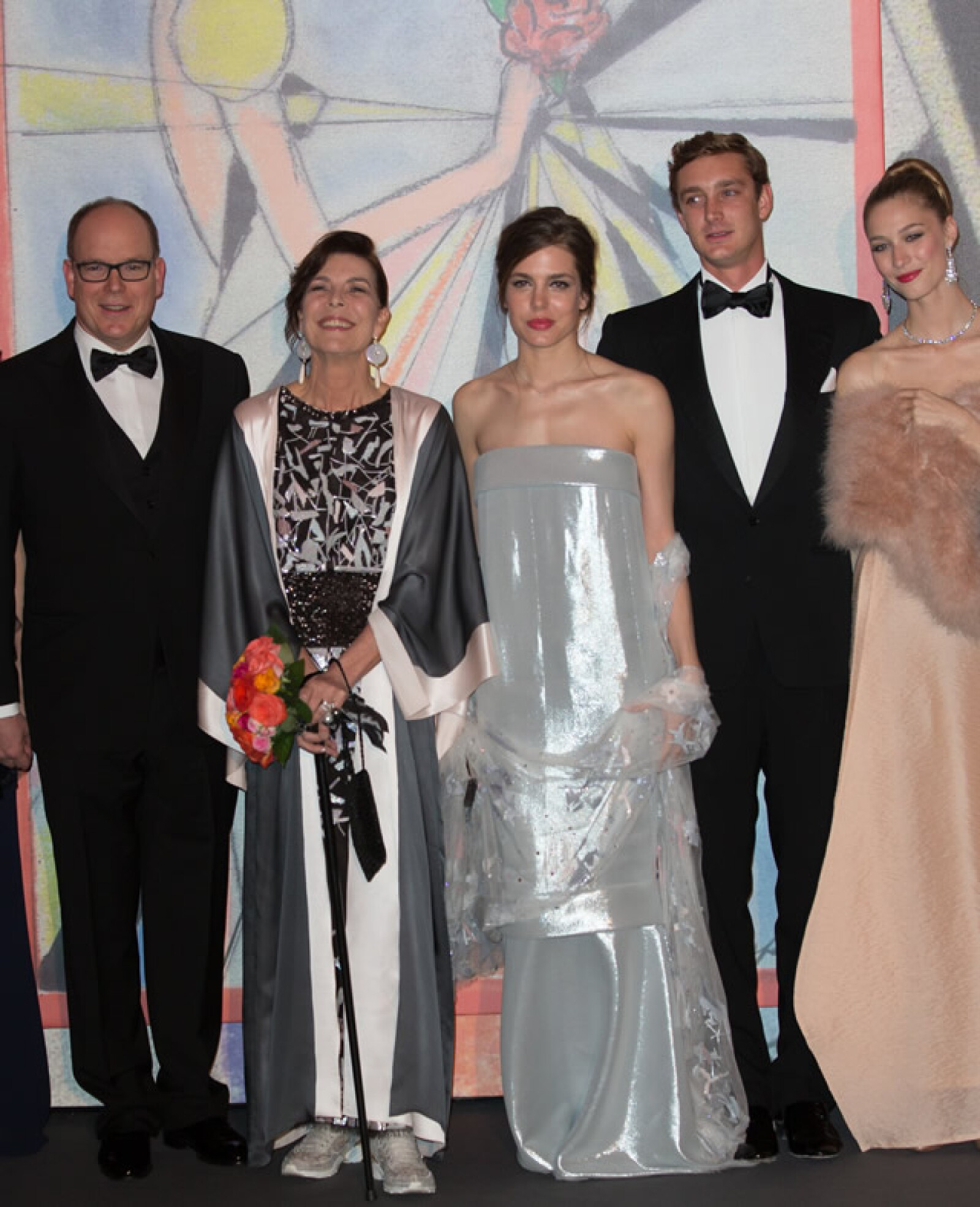 Princesa Carolina de Mónaco, Carlota Casiraghi, Pierre Casiraghi y Beatrice Borromeo.