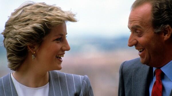 Princesa Diana y el rey Juan Carlos