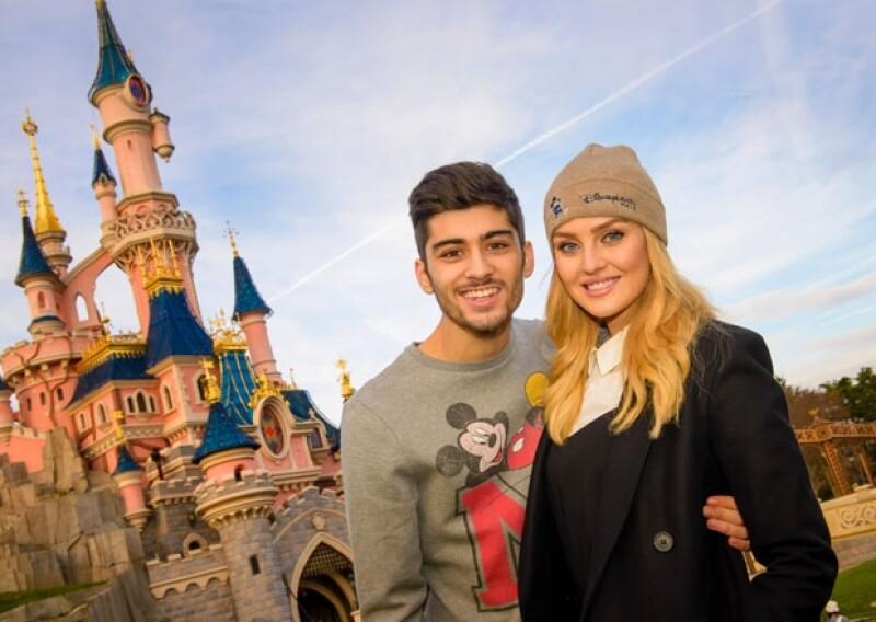 Zayn Malin festejó en Disney París sus 21 años, al lado de su guapa novia.
