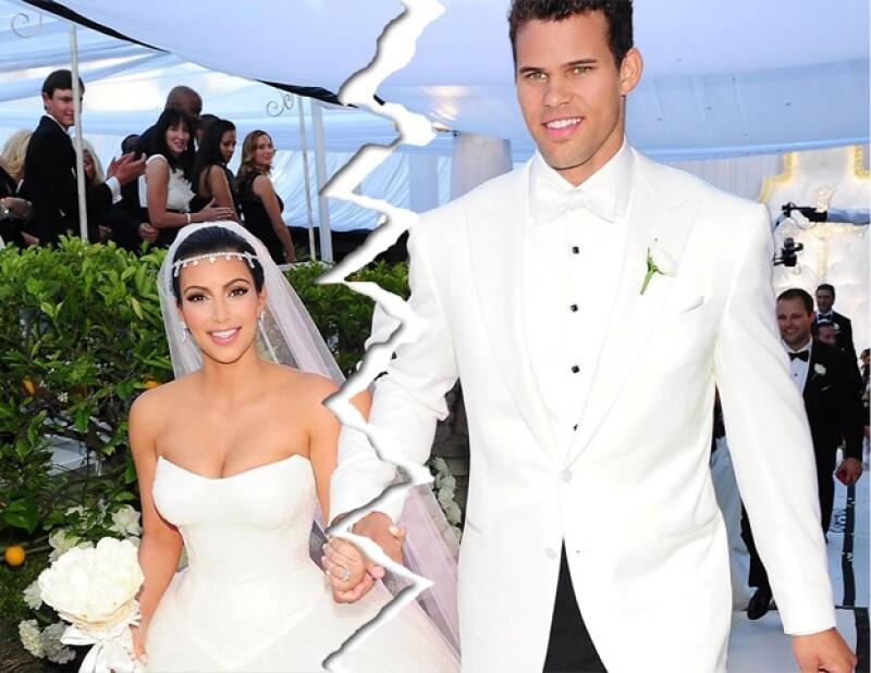 Kim y Kris no duraron mucho tiempo casados.
