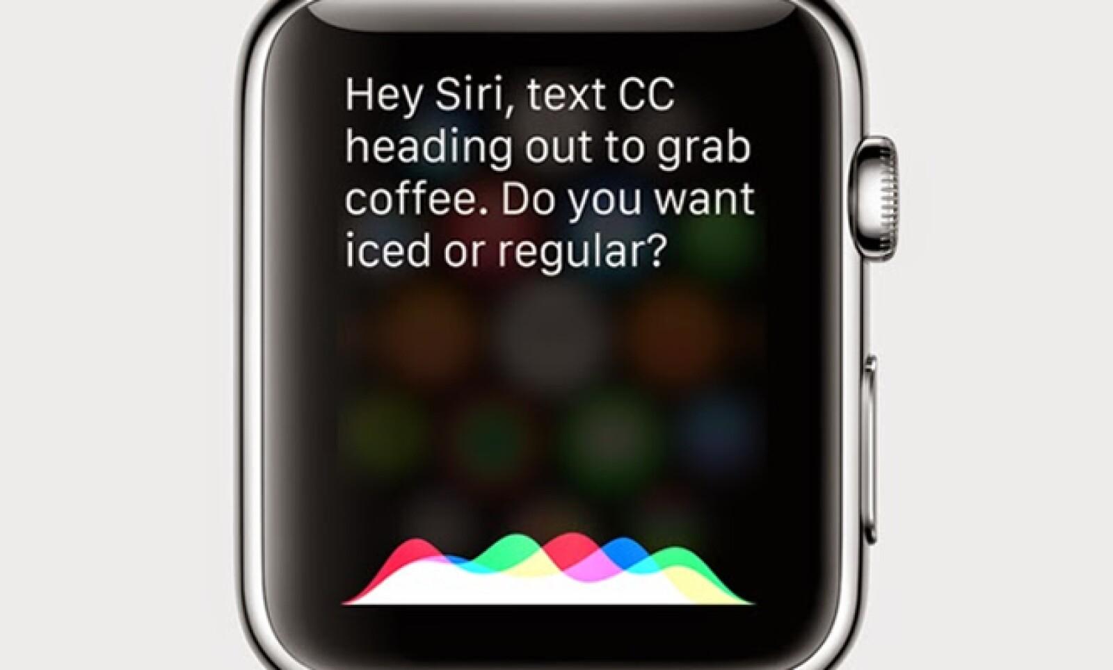 Sólo con presionar la corona del Apple Watch.