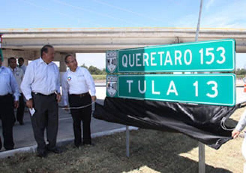 El tramo Pachuca-Tula I está construido en concreto para maximizar tiempos pero también minimizar costos de mantenimiento.  (Foto: Cortesía Presidencia)