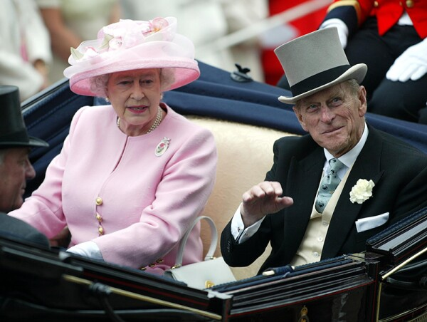 Queen Elizabeth Ii And Prince Phillip Duke Of Edinburgh Arrive At Royal Ascot.