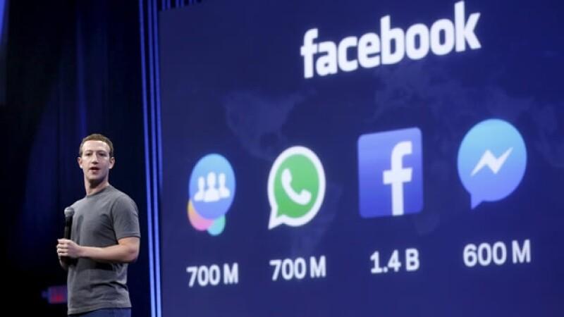 El fundador de la red social durante la apertura de la conferencia anual de desarrolladores de Facebook
