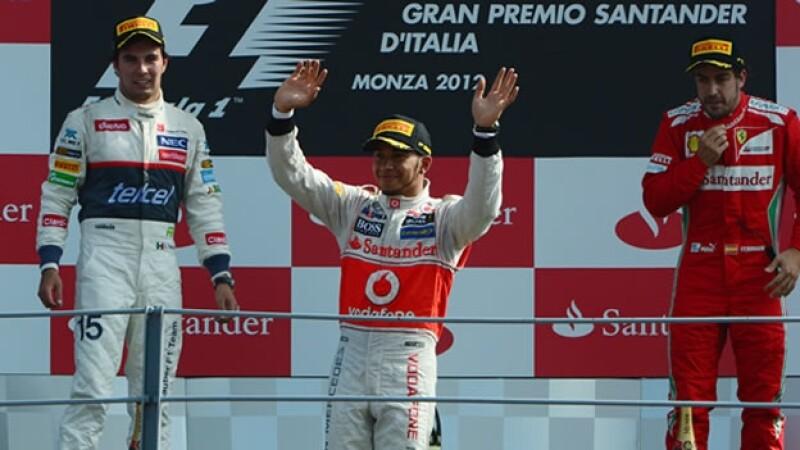 Lewis Hamilton, Sergio Perez y Fernando Alonso ganan el Gran Premio de Italia