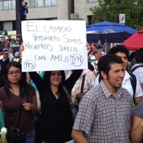 Lopez Obrador en Tlatelolco