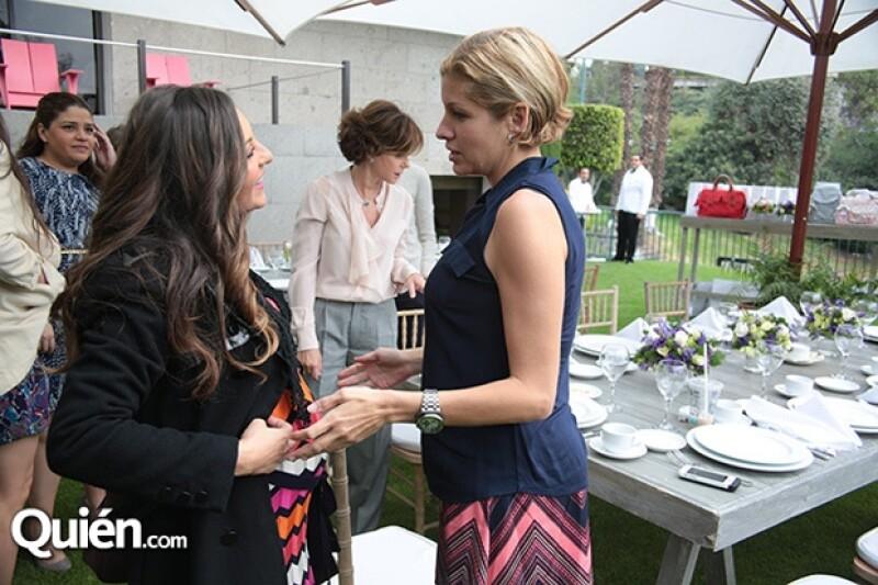 Mariana Ochoa convivió con las invitadas al exclusivo brunch.