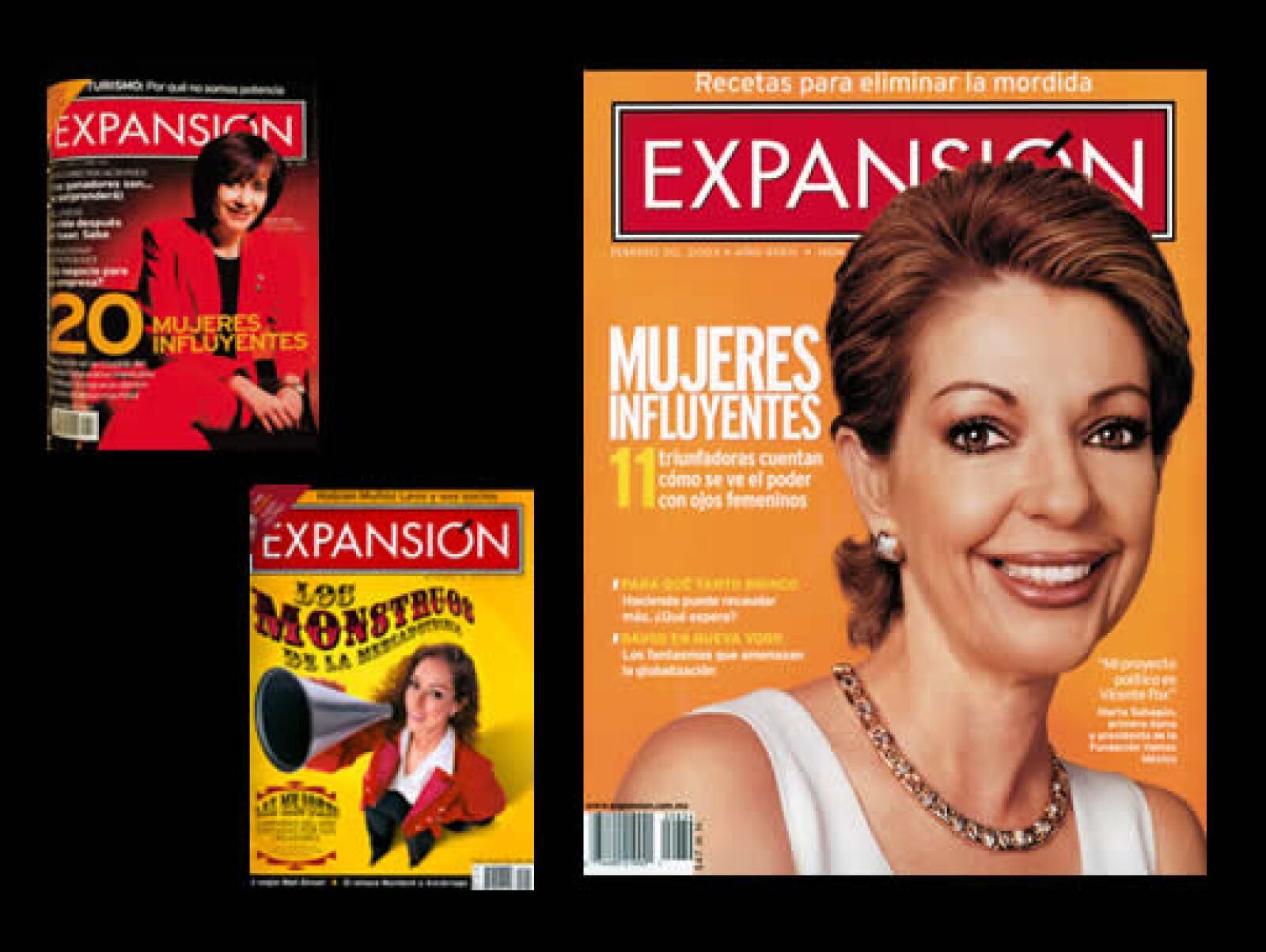 Las mujeres que marcan la pauta en el mundo de los negocios en México desde sus respectivas trincheras han estado presentes en número como éstos, de junio de 1999, noviembre de 2004 y febrero de 2002.
