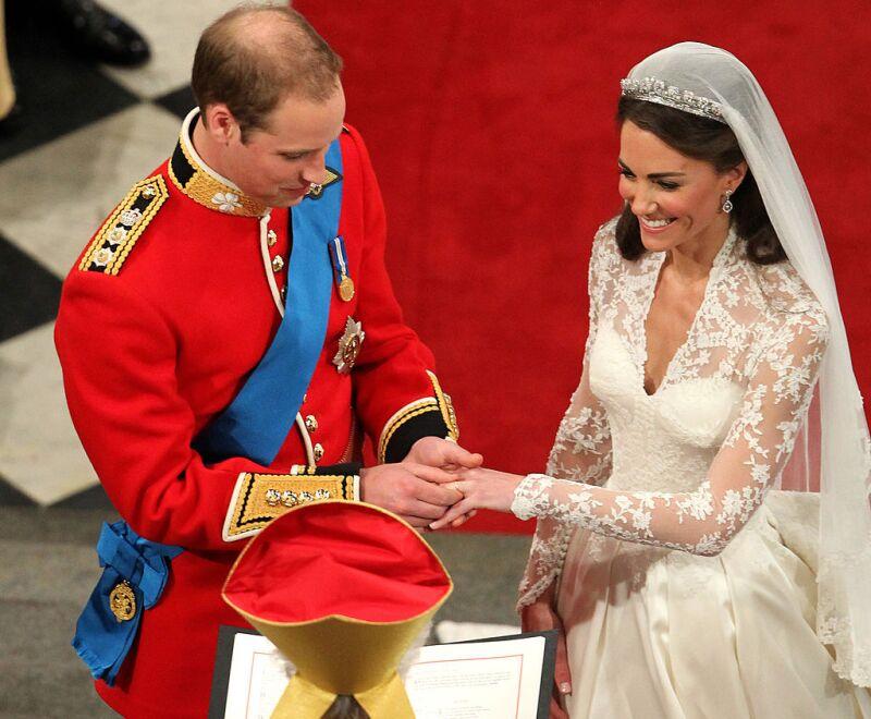 Will y Kate el día de su boda