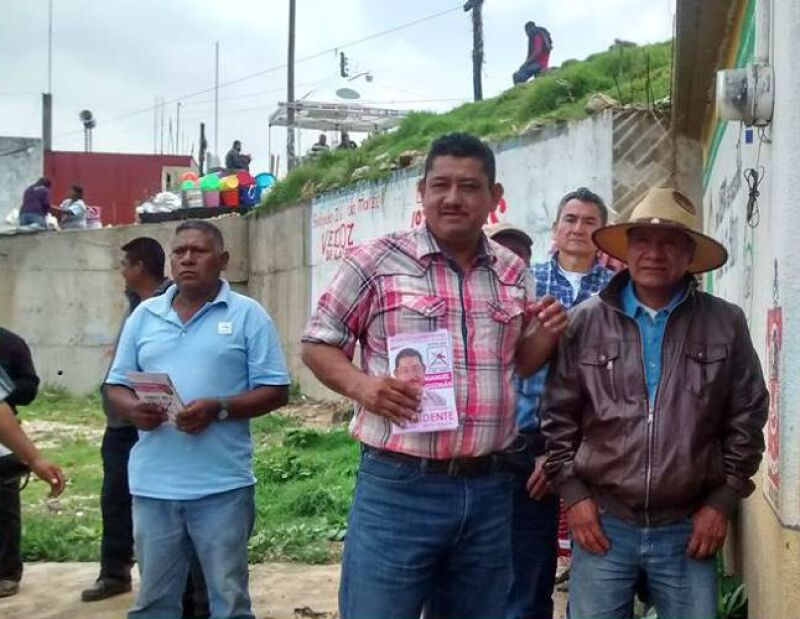 Durante la campaña, el candidato se dedicó a recorrer los barrios y comunidades que componen el municipio.