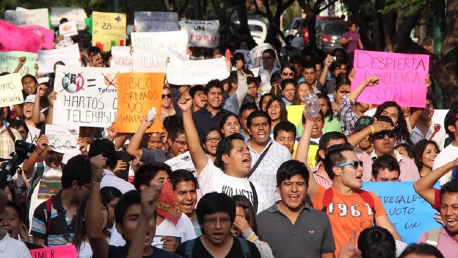 marcha 132 en Oaxaca 1