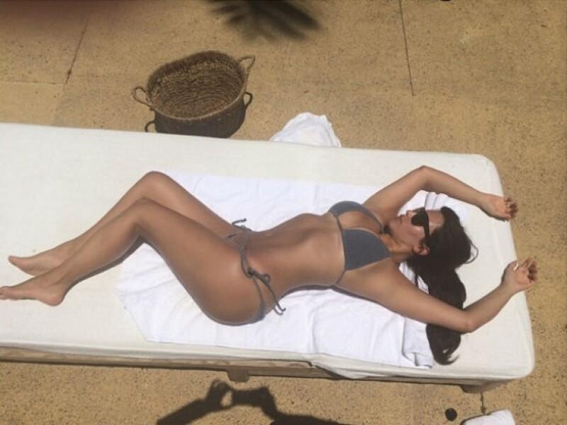 Kim lució su figura recientemente en México, pero afirma que necesita bajar algunos kilos más.