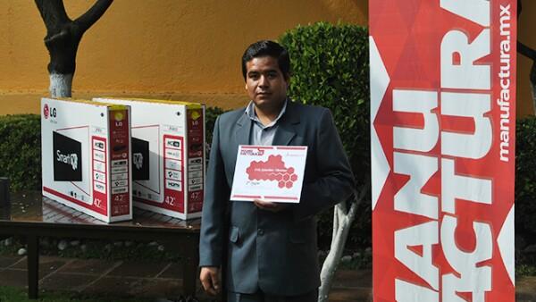 Erick S�nchez Moreno, segundo lugar en la categor�a estudiantes