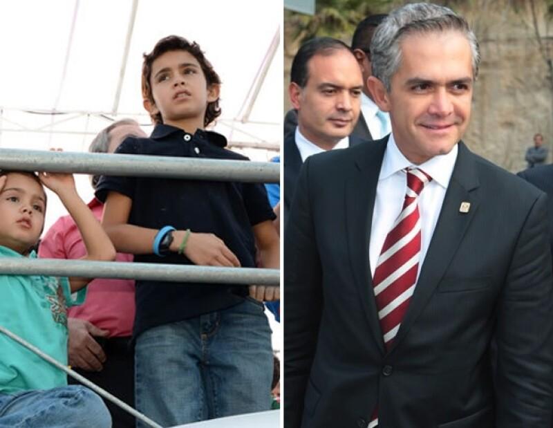 Miguel Ángel Mancera y Miguelito Mancera.