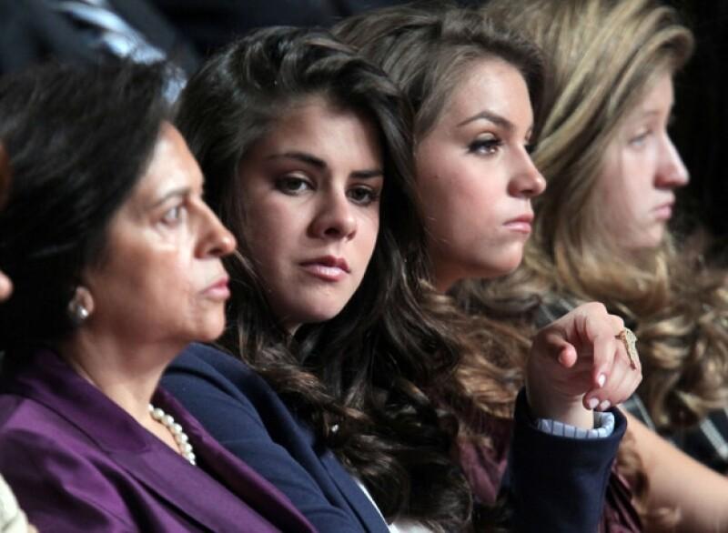 Tanto los hijos de Angélica como los de Peña Nieto estuvieron presentes.