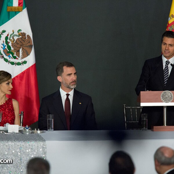 Letizia,Felipe VI,Enrique Peña Nieto