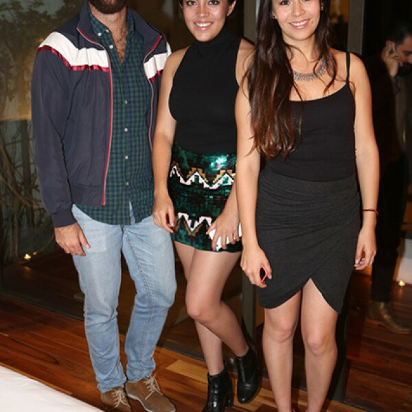 Ricardo Navamuel,Marianne Carrazco y Natalia Guzmán