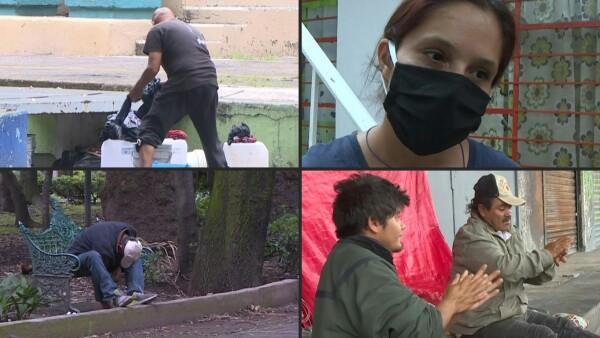 La pandemia obliga a cientos de personas a vivir en la calle en México