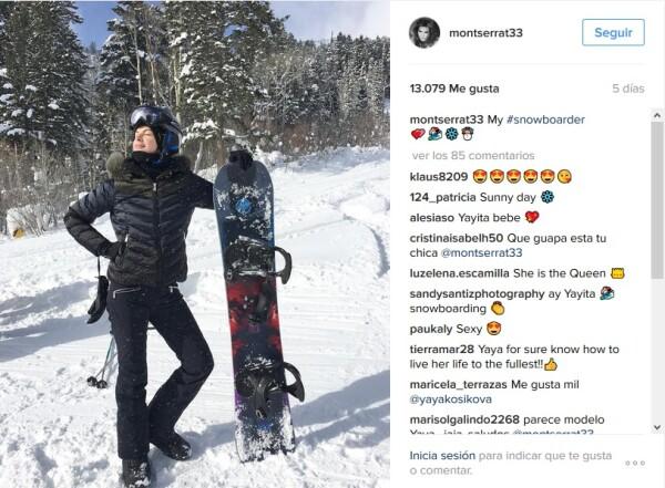 Yaya Kosikova en la nieve