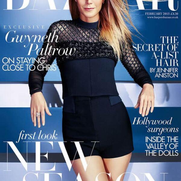 Gwyneth Paltrow posa para Alexi Lubomirski para la portada de Harpers Bazaar UK.