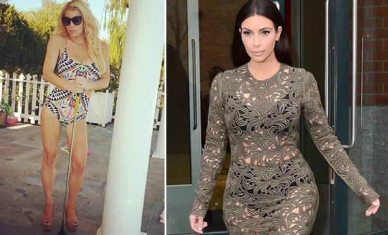 La esposa de Kanye West quiere saber qué método ha utilizado Jessica para perder tantos kilos tras dar a luz.