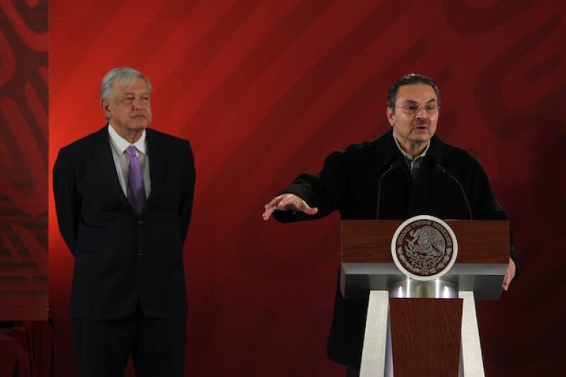 Octavio Romero Oropeza y Andrés Manuel López Oba