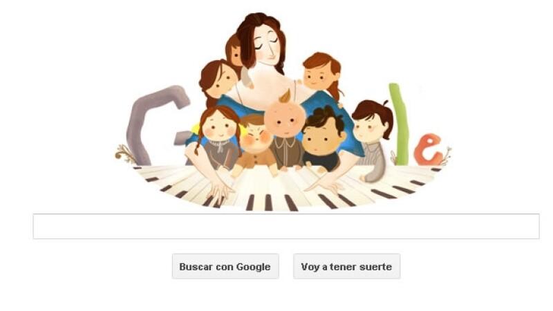 Clara Schumann google, doodle, pianista alemania
