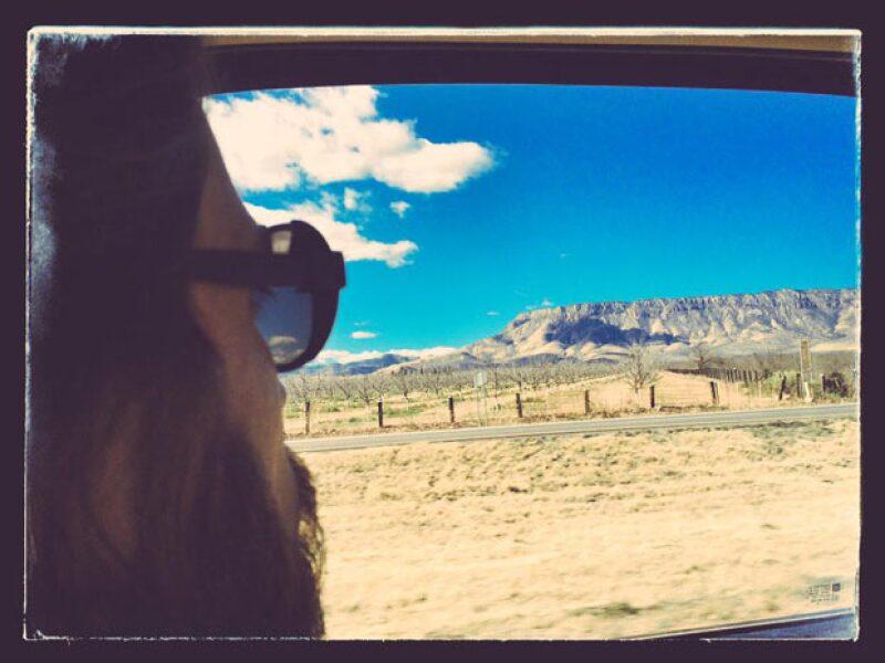 Una toma desde la vista que disfrutaban mientras iban rumbo a Chihuahua.