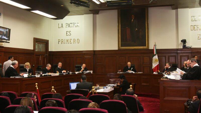 La Suprema Corte de Justicia de la Nación en una sesión