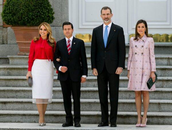 President of Mexico Enrique Pena Nieto visit to Spain, Madrid - 25 Apr 2018