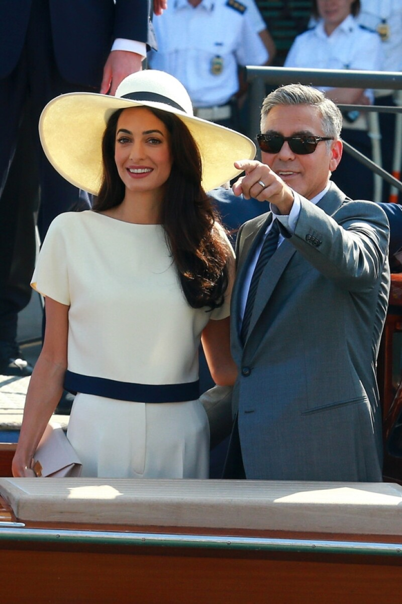 La pareja contrajo matrimonio en septiembre 27 en Venecia, Italia.