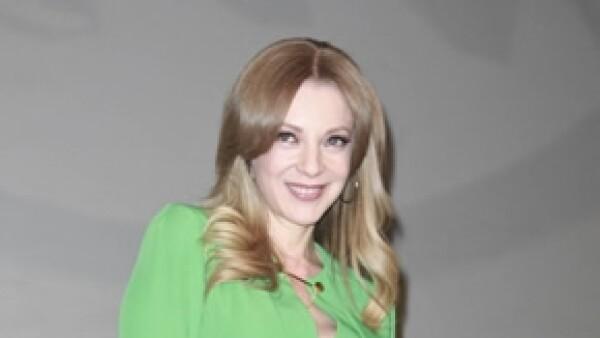 Edith González en la presentación de la telenovela.