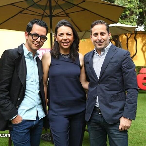 Manolo Caro,Laura Manzo y Moisés Micha