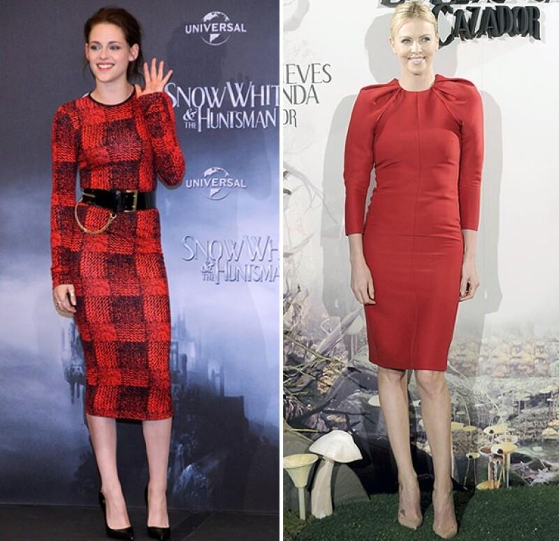 Ambas son guapas y talentosas. Una cosa más en común: comparten créditos en `Snow White and the Huntsman´ y se han tenido que `enfrentar´ en la alfombra roja de varias premieres. Checa sus looks.