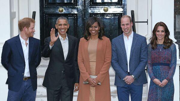 La familia Obama y la familia real inglesa