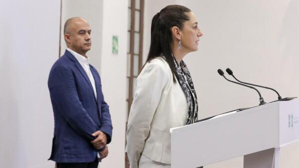 Claudia Sheinbaum y el titular de