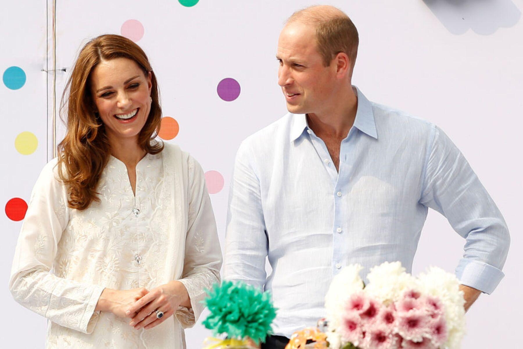Kate Middleton y el príncipe William.