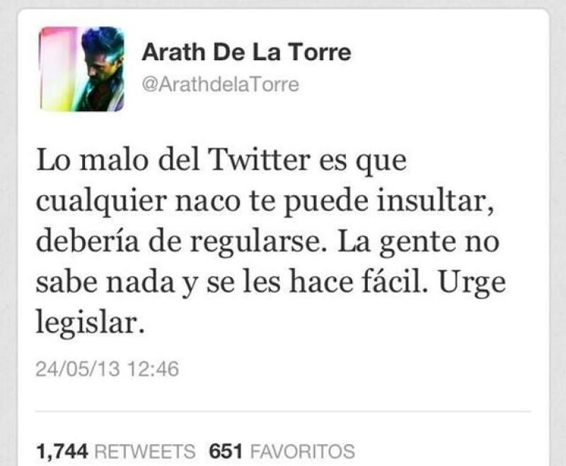 Aunque tenía buenas intenciones, Arath terminó enojando a Twitter.