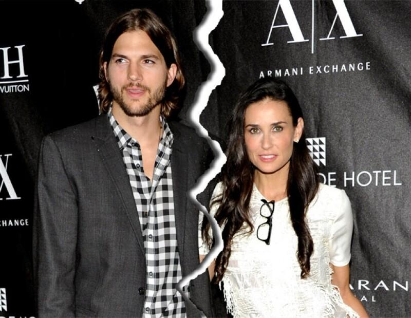 Demi puso fin a su matrimonio con Ashton en octubre de 2011.