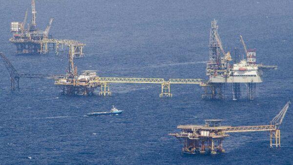 plataformas petroleras de Pemex en la Sonda de Campeche
