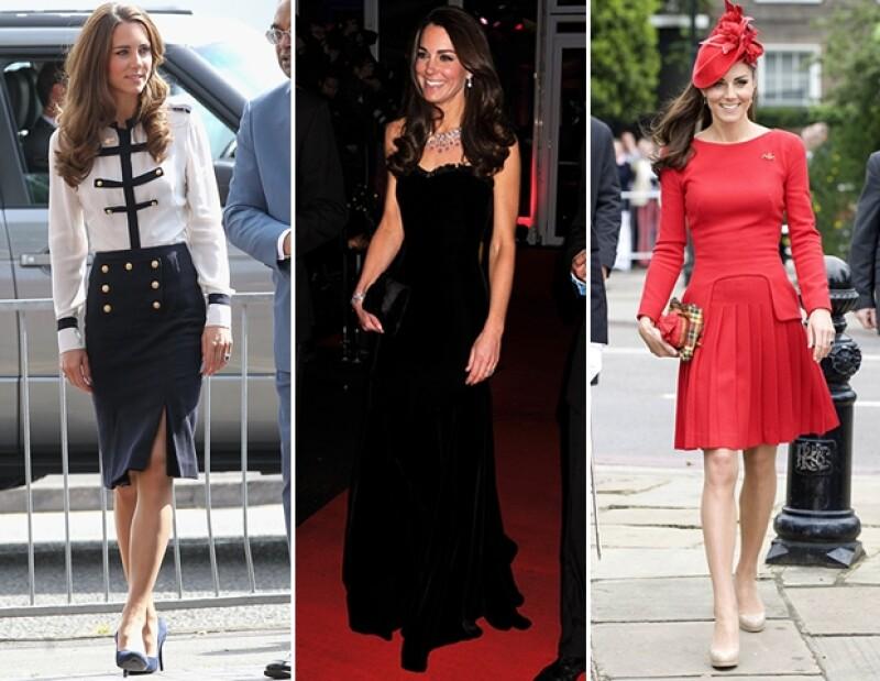 La Duquesa de Cambridge se ve siempre lista para brillar en los diseños de la casa de moda.