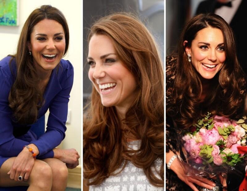 El look de pelo secado y súper brillante es el característico de la Duquesa de Cambridge.