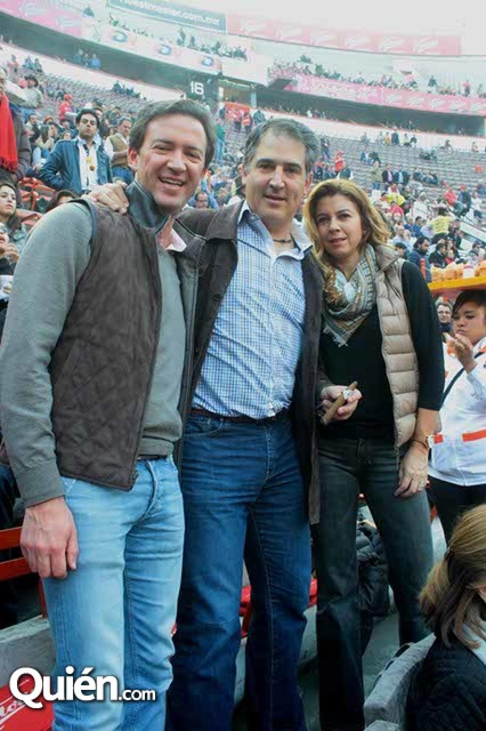 Andrés,Alejandro y Fernanda Grisi