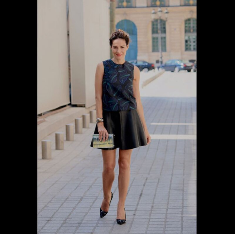 Para Elsa Schiaparelli, decidió usar falda.