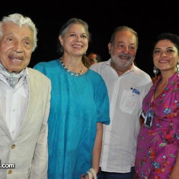 Antonio Frausto, Alejandra de Frausto, Carlos Slim y Alejandra Frausto.